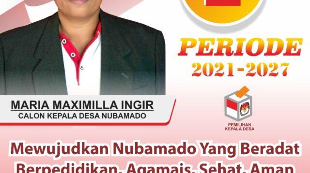 Maria Maximila Ingir, Calon Kepala Desa Nubamado, Kecamatan Nubatukan, Kabupaten Lembata Periode 2021-2027 (Foto: Tim)